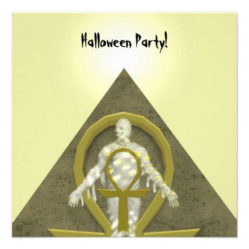 Momia - invitación del fiesta de Halloween