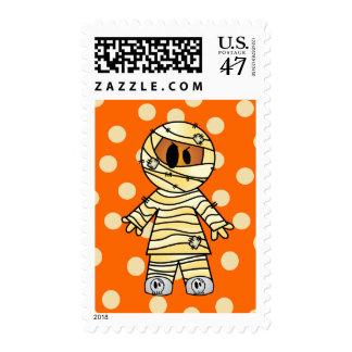 Momia linda de Halloween Sellos Postales