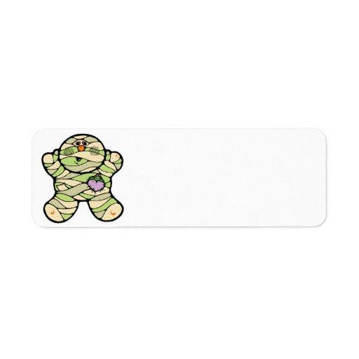 momia linda del bebé etiquetas de remite