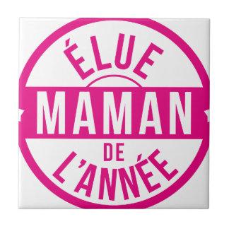 Momia/mamá/mamá/Maman/mama/mamá Azulejo Cuadrado Pequeño