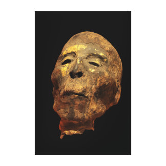 Momia principal masculina humana Mummified Lienzo Envuelto Para Galerias