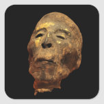 Momia principal masculina humana Mummified Calcomanía Cuadradas