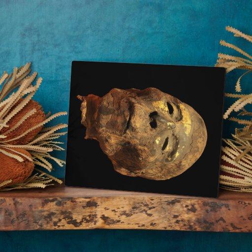 Momia principal masculina humana Mummified Placas Para Mostrar