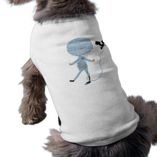 momia que desenreda linda playera sin mangas para perro