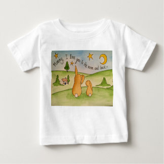 Momia, te amo a la luna y a la camiseta trasera playera