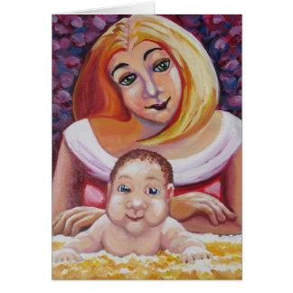 Momia y bebé - el día de madre tarjeta
