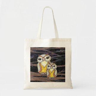 Momia y bolso de compras de los búhos de Bub Bolsa Tela Barata