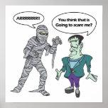 Momia y monstruo posters