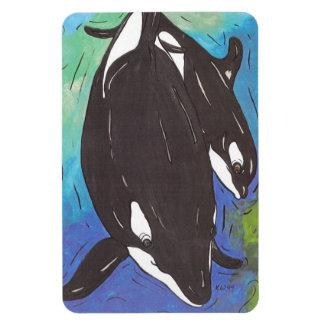 Momia y orcas de Bub Imanes Flexibles
