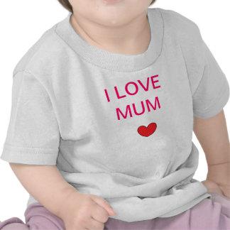 ¡Momia y papá del amor! Camiseta