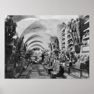 Momias de la catacumba de Palermo, Italia Póster