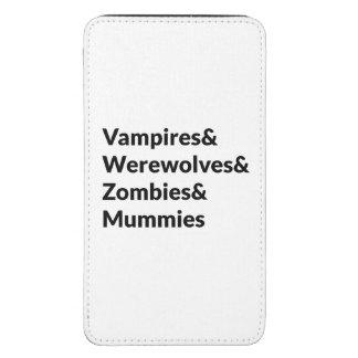 Momias de los zombis de los hombres lobos de los funda acolchada para galaxy s5