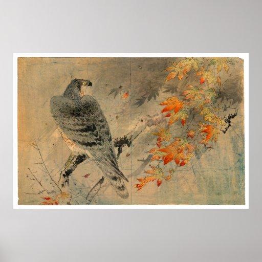 Momiji ni washi Vintage Japanese Print