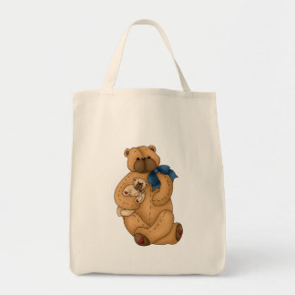 Momma and Baby Bears Grocery Tote Bag
