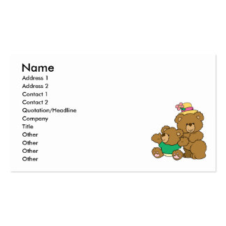 Momma and Baby Boy Bear Business Card Template