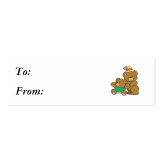 Momma and Baby Boy Bear Business Cards