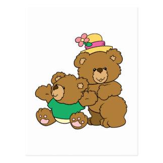 Momma and Baby Boy Bear Postcard