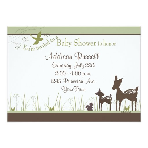 momma and baby deer shower invitations zazzle