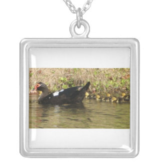 Momma and Baby Ducks Necklace