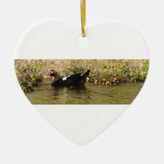 Momma and Baby Ducks Ornament