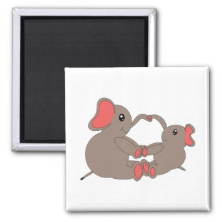 Momma and Baby Elephant Magnet Magnets