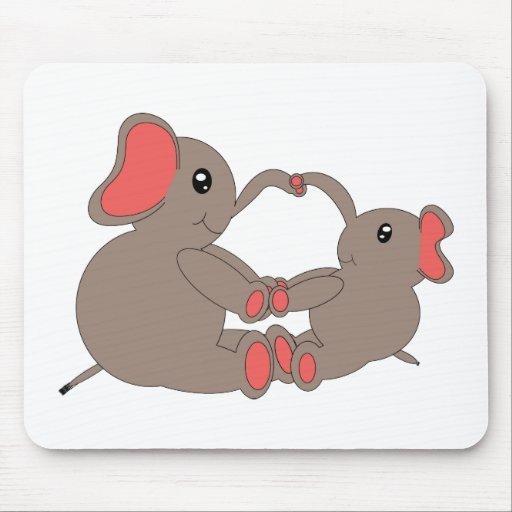 Momma and Baby Elephant Mousepad