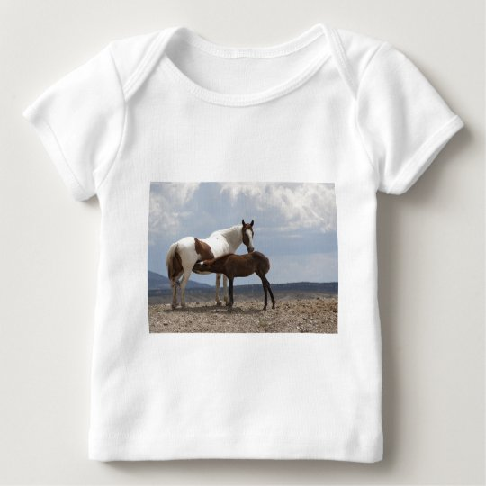 Momma and Baby Mustang Baby T-Shirt