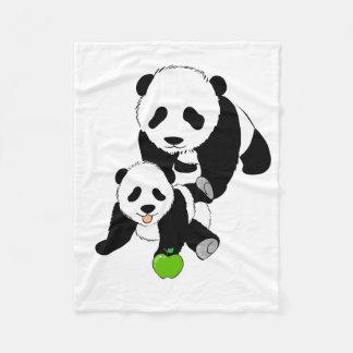 Momma and Baby Panda Fleece Blanket