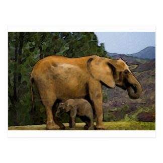 Momma and Baby Postcard