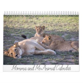 Momma and Me Animal Calendar