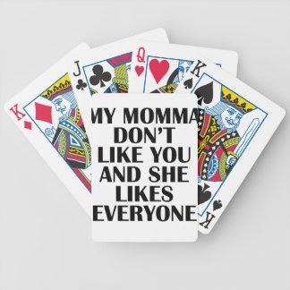 momma baraja de cartas bicycle