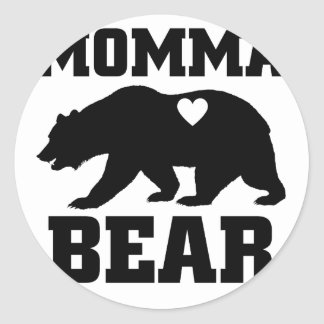 Momma Bear Best Gift Quote for mom shirt Classic Round Sticker