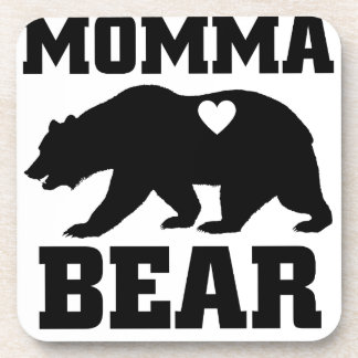 Momma Bear Best Gift Quote for mom shirt Coaster