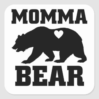 Momma Bear Best Gift Quote for mom shirt Square Sticker