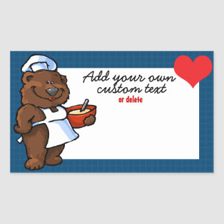 Momma bear chef baker cooke custom label sticker