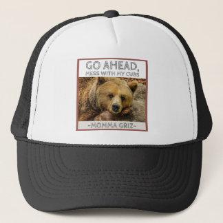 Momma Bear Momma Griz Go Ahead Mess With My Cubs.j Trucker Hat