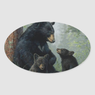 Momma Bear Oval Sticker