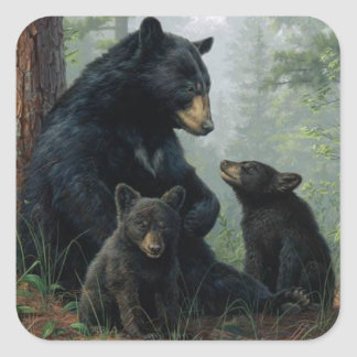 Momma Bear Square Sticker
