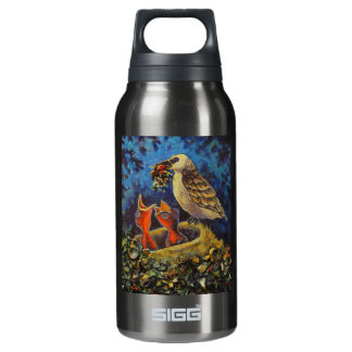 Momma Bird, Recycled Art Insulated Water Bottle