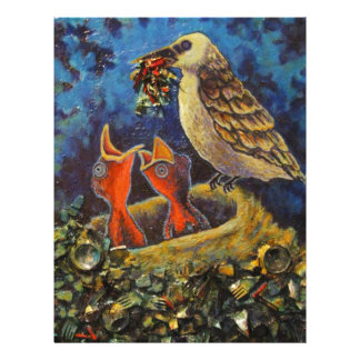 Momma Bird, Recycled Art Products Custom Letterhead