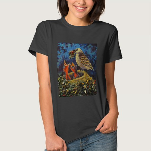 Momma Bird, Trash Art T-Shirts