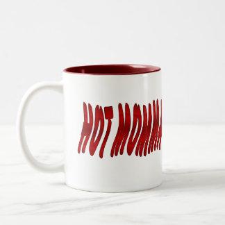 momma caliente taza de café de dos colores
