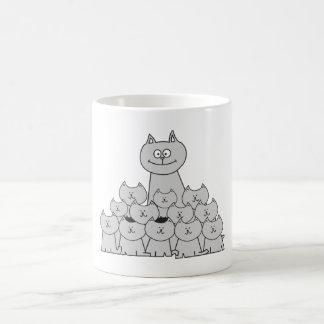 Momma Cat and Kittens mug