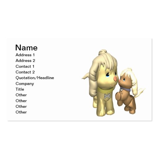 Momma Dog Business Card Template