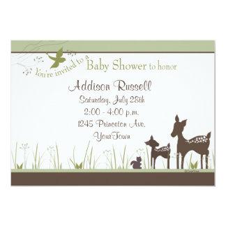 Momma e invitaciones de la ducha de los ciervos comunicados personalizados