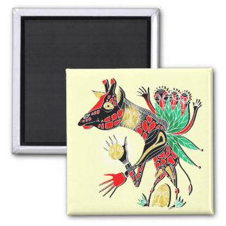 momma giraffe 2 inch square magnet