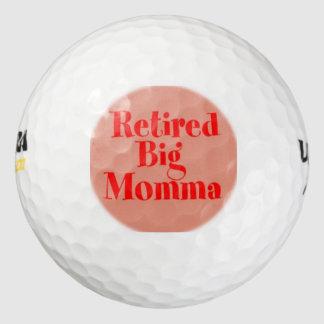 Momma grande jubilado pack de pelotas de golf