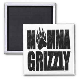 Momma Grizzly 2 Inch Square Magnet
