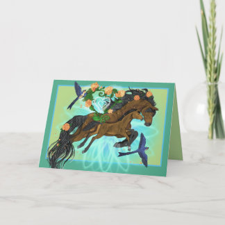 Momma Horse and foal Card