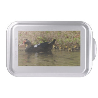 Momma Muscovy and Baby Ducks Cake Pan